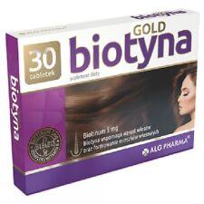 Biotyna Gold 5 mg Biotin Healthy Hair Skin Nails Biotebal 30 tablets