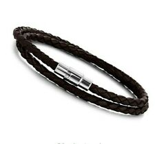 Black Leather Bracelets for Men Women Charm Bracelets Magnetic Clasp