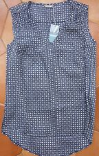 MARKS and SPENCER - Navy Top - NEW - £19.50 - UK 8 - pretty cutout shoulders