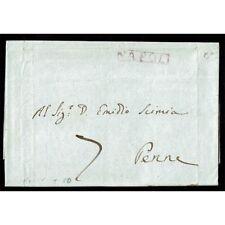 PR013 - 1808 Prefilatelica da Napoli a Penne (Pescara) con testo