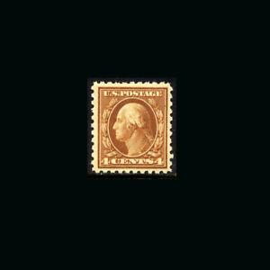 US Stamp Regular Issues Mint OG & H, XF S#465 Jumbo Margins