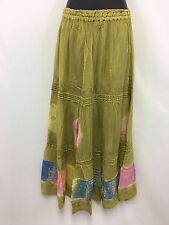 One Size  Draw String Apple Green Tie Dye Skirt One Size