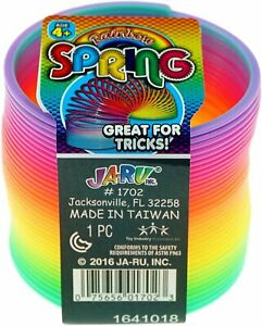 Ja-Ru Super Action Rainbow Slinky Spring