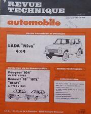 Revue technique 4X4 LADA NIVA ESSENCE RTA N° 435 1983