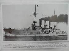 1915 GERMAN CRUISER PRINZ ADALBERT SUNK BY BRITISH SUBMARINE IN BALTIC WWI WW1