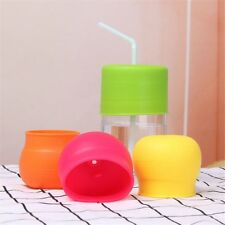 Leakproof Stretchable Sippy Bottle Silicone Lids Cup Cover Water Straw