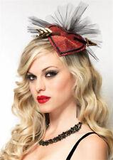 Hair Fascinator  Cupid Fascinator  Heart Fascinator Burlesque Fascinator clip