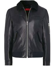 Hugo Boss fur Leather Jacket Lannson M 48 Pilot Winter