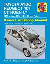 6334 Haynes Citroën C1 Peugeot 107 Toyota Aygo Petrol (2005 - June 2014) Manual