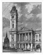BIRMINGHAM Museum & Art Gallery - Antique Print 1885