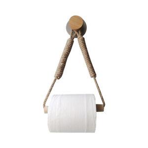 Toilettenpapierhalter ohne Bohren  Handtuchhalter KlopapierhalterSeil Vintage