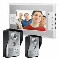 "7"" TFT Color Video Door Phone Intercom Doorbell Home Security System 2 IR Camera"