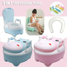 Toddler Toilet Potty Training Toilet Trainer Safety Kids Soft Cushion Seat Chair
