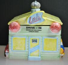 VINTAGE 1993 FITZ & FLOYD OMNIBUS LOU'S DRIVE-IN COOKIE JAR