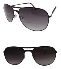 Bifocal Pilot Designer Sunglasses Sun Readers Black Eyewear 100% UV Protection
