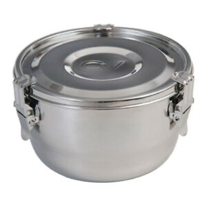 CVault 7 In Airtight Humidity Curing Humidor Storage Container, Steel (2 Liter)