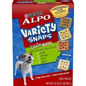 Purina Alpo Variety Snaps Little Bites Dog Treats 32 oz Box