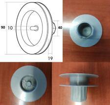 Disco de persiana mini  de 90mm, para cinta de 14 o 18, con teton, polea, blind.