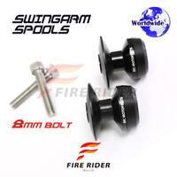 8MM CNC Black Swingarm Spools Set For BMW S1000 XR 15-16 15 16