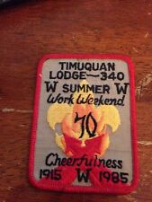 Timuquan Lodge #340 1985 Work Weekend  OA Order of the Arrow KD-249