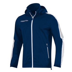 Macron Surat Waterproof Nylon Sports Rain Jacket w/ pockets - Navy [Adult sizes]