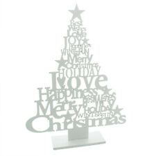 Words Christmas Tree mantelpiece decoration 37.5cm x 29cm