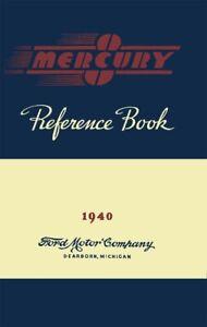 1940 Mercury Owners Manual User Guide Instruction Operator Book Fuses Fluids OEM