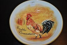 NEW OPIFICIO ETICO ROOSTER Stamp Pasta/Soup BOWL ITALY Ceramic Handcrafted S/2
