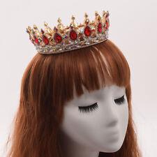 Bride Bridal Head Wear Set Marriage Tiara Wedding Crown Baroque Crystal
