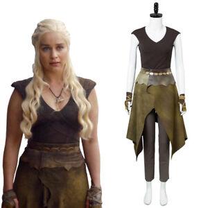 Game of Thrones Daenerys Targaryen Khaleesi Dothraki Costume Halloween Cosplay