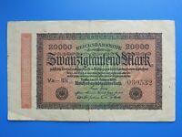 #8507# Billet de 20 MILLE MARK 1923 ALLEMAGNE BILLET DE BANQUE ANCIEN