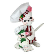 Annalee Dolls 2021 Christmas 6in christmas Candy Chef Mice Plush New with Tag