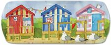More details for a day at the seaside - beach huts - emma ball melamine sandwich tray - 40cm