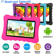 """7"""" inch Tablet PC Android 8.1 For Kids Student Dual Camera WiFi 8GB Bundle Case"""