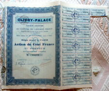 France - Action de cent Francs Clichy Palace Paris