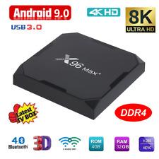X96 Max+ 8K 4GB+32GB Android 9.0 TV BOX S905X3 Quad Core BT4.0 5G WiFi 3D Media