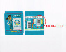 PANINI EURO 2020 PREVIEW horizontal UK barcode packet BLUE 568 stickers edition