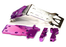 T5019PURPLE Integy Steel Front Skid Plate for HPI 1/12 Savage XS Flux