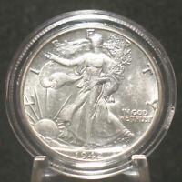 1942 U.S. Silver Walking Liberty Half Dollar 50c Uncirculated Details 90% Silver