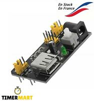 Module d'alimentation MB102 Breadboard 3.3V / 5V Adaptateur Arduino TimerMart