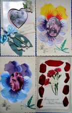 Hand Coloured/ Painted Collection/ Bulk Lots Postcards