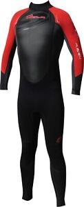 Mens Sola FUSION Full Wetsuit 3/2mm, Backzip Small, Medium, MT, Large SALE