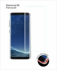 5x FULL SCREEN Face Curved TPU Screen Protector Cover For Samsung Galaxy S8