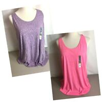 Tek Gear Racer Back Tank Women's Size L, XL, XXL in Pink & Purple