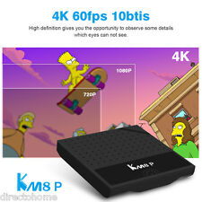 KM8P 2/16Go Android 7.1 OctaCore TV Box 4K WiFi OTA 3D HDR Media Player New