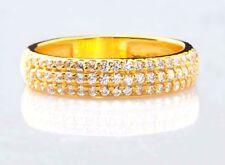 Solide 585er Gelb Gold 0,90Kt Rund Form Wunderbar Hochzeit Band