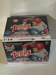 2018 Topps Series 1 MLB Baseball Hobby Jumbo Box Factory Sealed 10 Packs