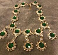 Stella And Dot Green Rhinestone Necklace