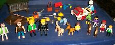 Vintage Playmobil Geobra lot Of over 30 pieces Mini figures & Play Set 1993