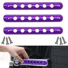 Purple Aluminum Door Handles Insert Bar Trim for 2007-18 Jeep Wrangler JK 2dr